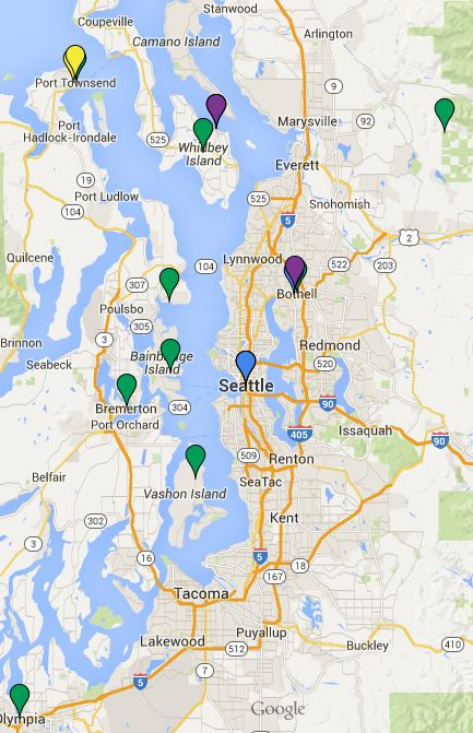 cohousing map seattle area